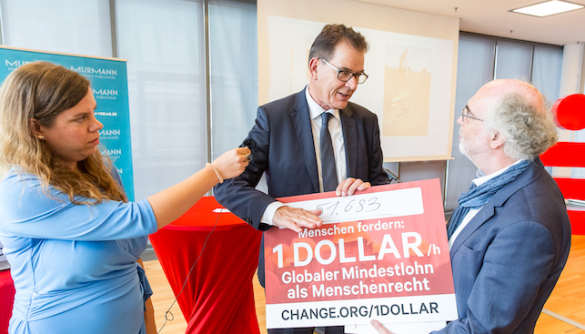 Globaler Mindestlohn Petition an den Bundesminister Gerd Müller